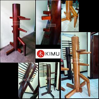 Jual mok yan jong - wooden dummy - manusia kayu KIMU wing chun