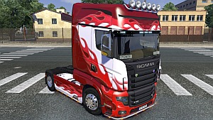 Flame skin for Scania R700