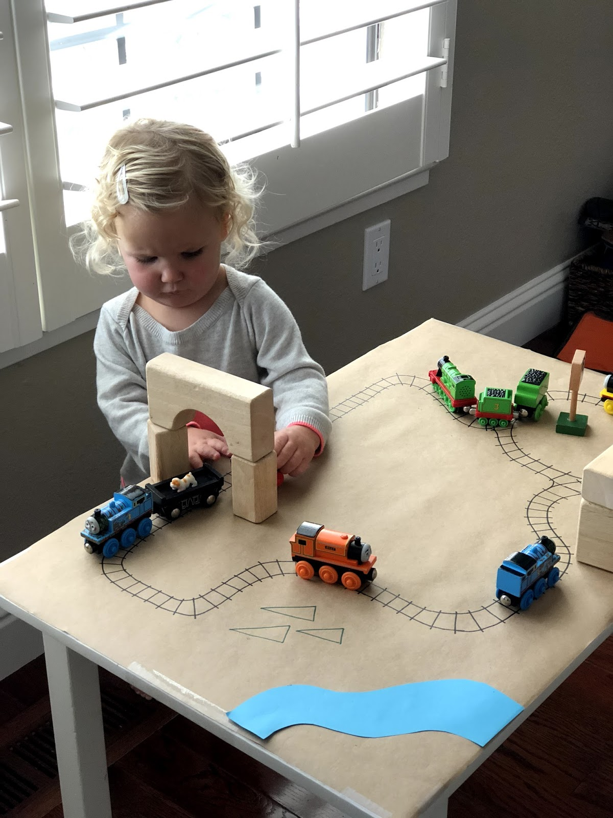 Toddler Approved Easy Diy Paper Train Table For Kids