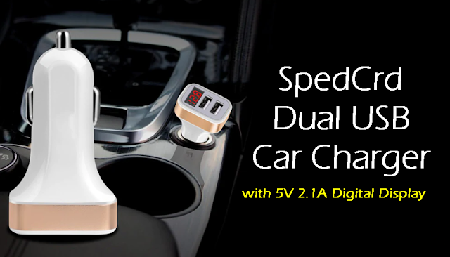 Dual USB Car Charger SpedCrd Best price and good quality