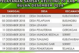 Jadwal Samsat Keliling Buleleng | Desember 2018