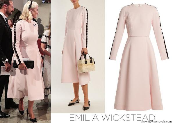 Crown Princess Mette-Marit wore EMILIA WICKSTEAD crepe dress