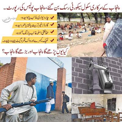 پنجاب کے سرکاری سکول سیکورٹی رسک بن گئے، پنجاب پولیس کی رپورٹ