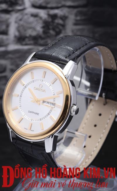 đồng hồ nam dây da omega giảm giá uy tín