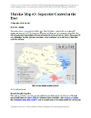 Updated map of control in Ukraine, as of April 16, 2014. Spotlight on control by separatists in the country's east, including armed takeovers and the claimed Donetsk People's Republic.
