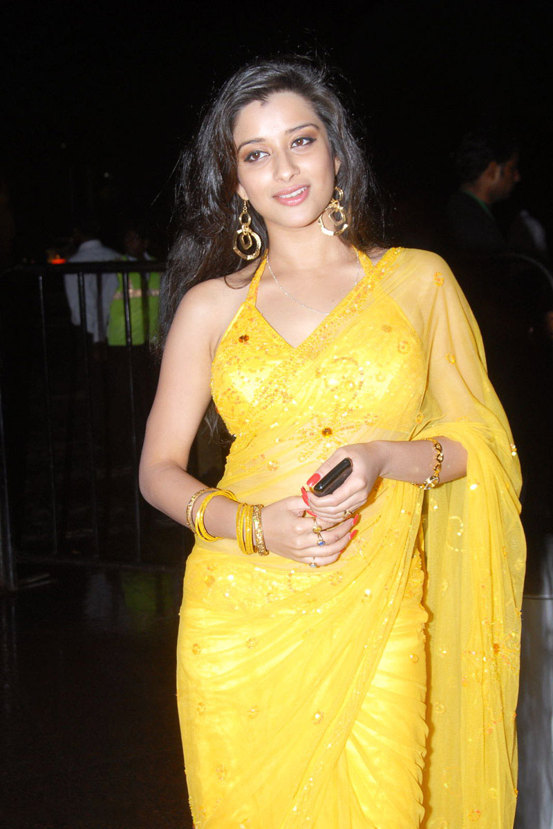 Madhurima Hot Stills In Yellow Saree