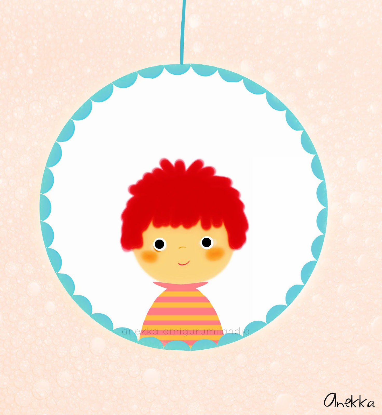 cute boy portrait anekka handmade