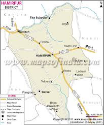 Map Of Hamirpur.