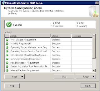 Install SQL Server 2005