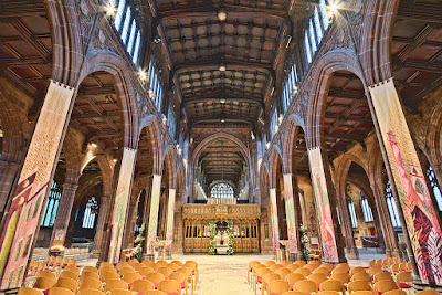 Manchester Cathedral nave, before the current building works