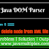 How to delete node from XML file using DOM Parser in Java?