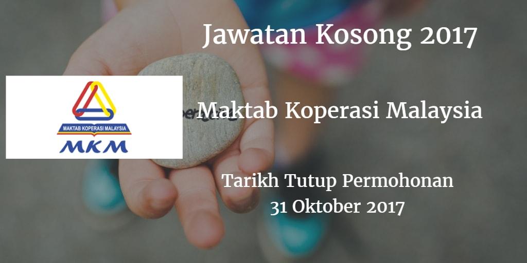 Jawatan Kosong MKM 31 Oktober 2017