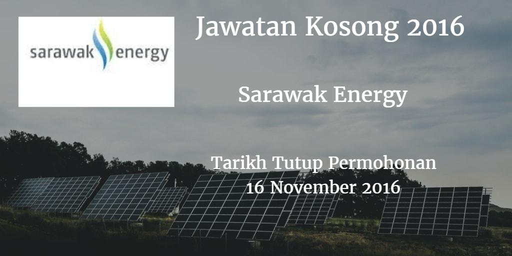 Jawatan Kosong Sarawak Energy 16 November 2016