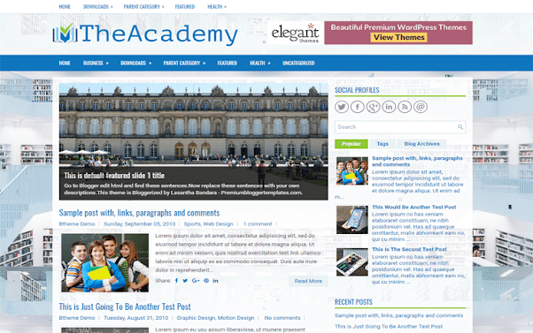 TheAcademy Free Blogger Template