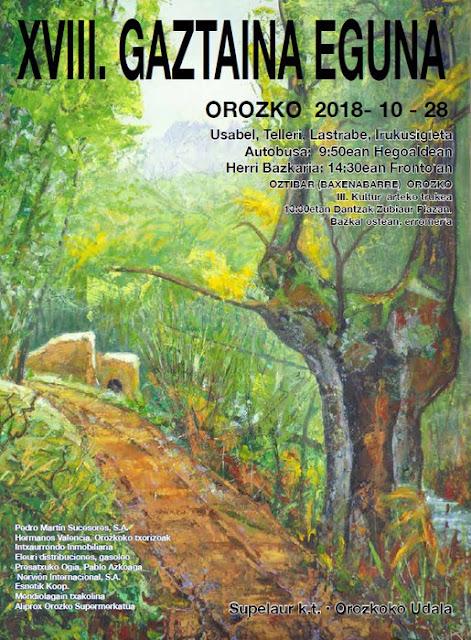 XVIII Gaztaina Eguna 2018– Día de la Castaña en Orozko