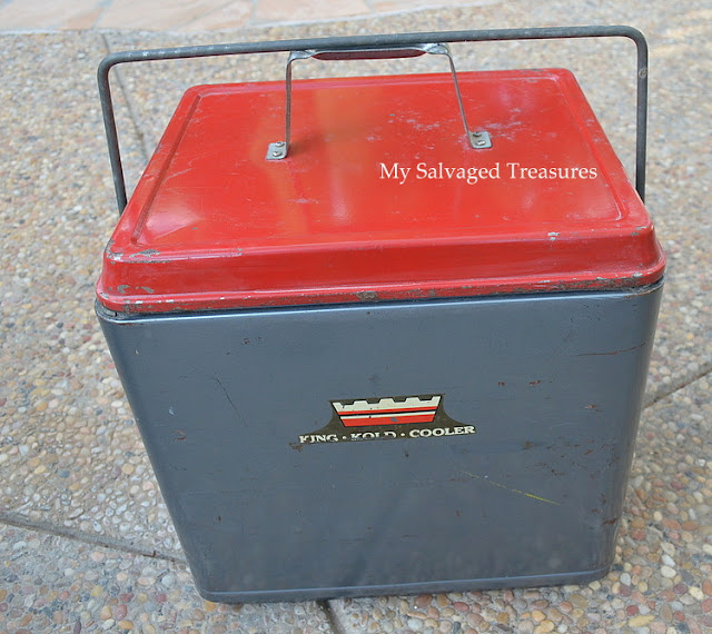 repurposed vintage King Kold cooler