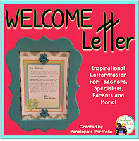 Welcome Letter - Motivational Inspirational Poster