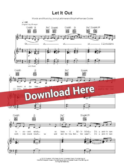 frances, let it out, sheet music, piano notes, score, chords, download, keyboard, guitar, bass, tabs, klavier, noten, partition, how to play, learn