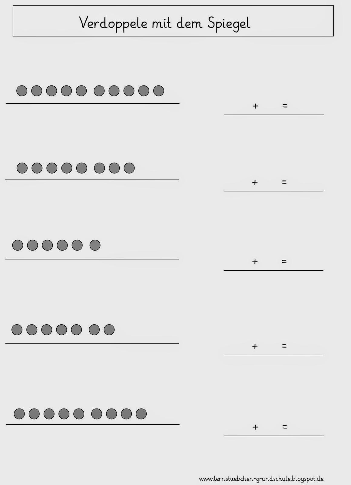 Lernstübchen: Verdoppeln - Arbeitsblätter
