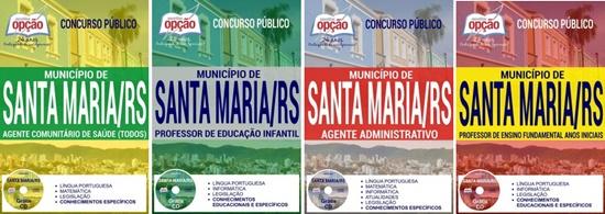 Apostila concurso Prefeitura de Santa Maria 2017