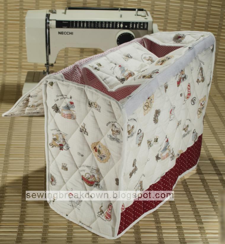 كيفية خياطة غطاء لماكينة الخياطة بالصور
