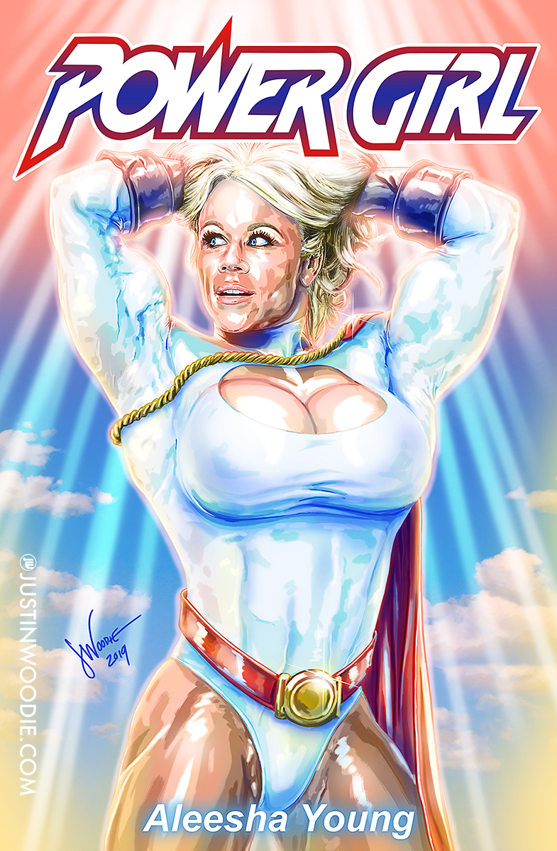Aleesha Young as Power Girl Digital Illustration