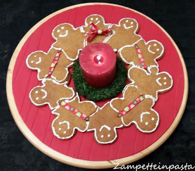 Ghirlanda di omini di pan di zenzero - Ricetta di Natale