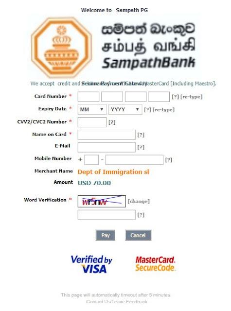 Sri Lanka: como tirar o visto