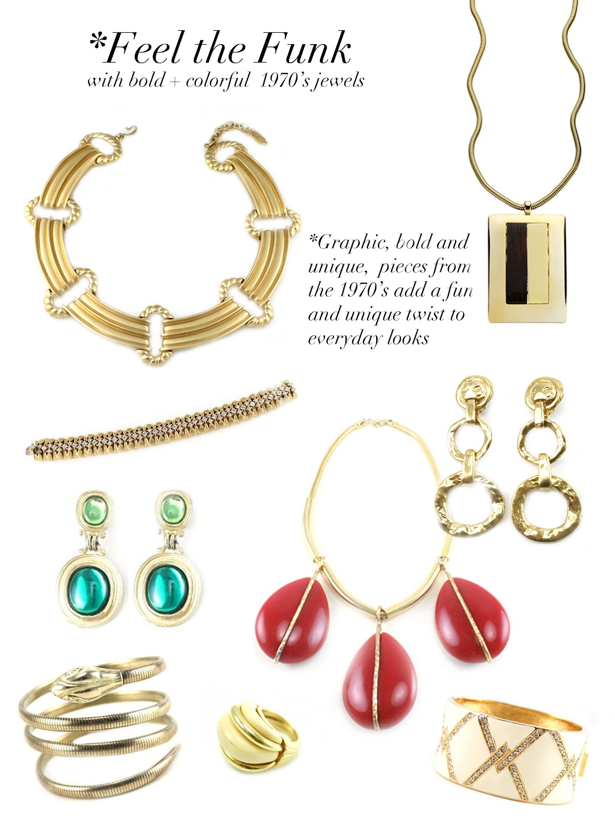 Jewelry Trends: House Of Lavande Blog: Jewelry Trend: 1970's
