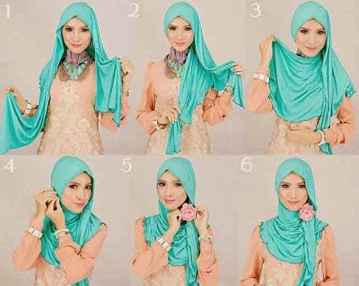 Cara Memakai Jilbab Pashmina Sifon Rawis Simple Dan Mudah Beserta Gambarnya