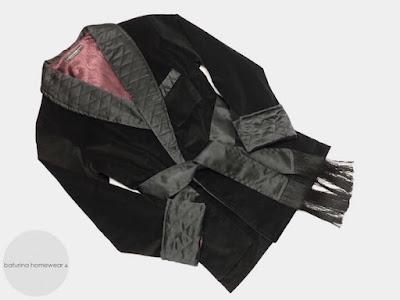 herren hausjacke samt warm gefüttert gesteppt edel luxus hausmantel englisch smoking jacket