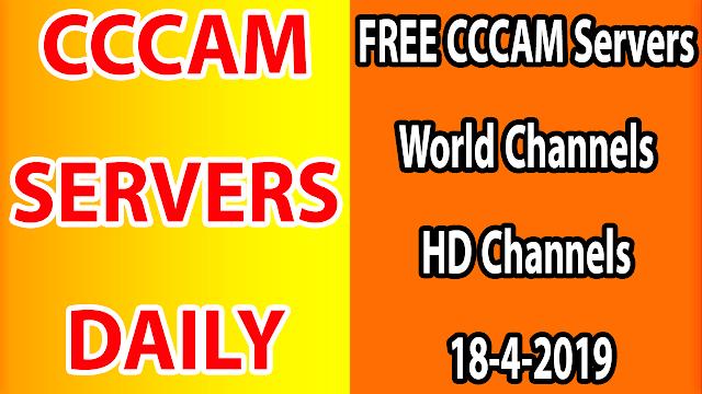 FREE CCCAM Servers World Channels +Sport HD Channels 18-4-2019