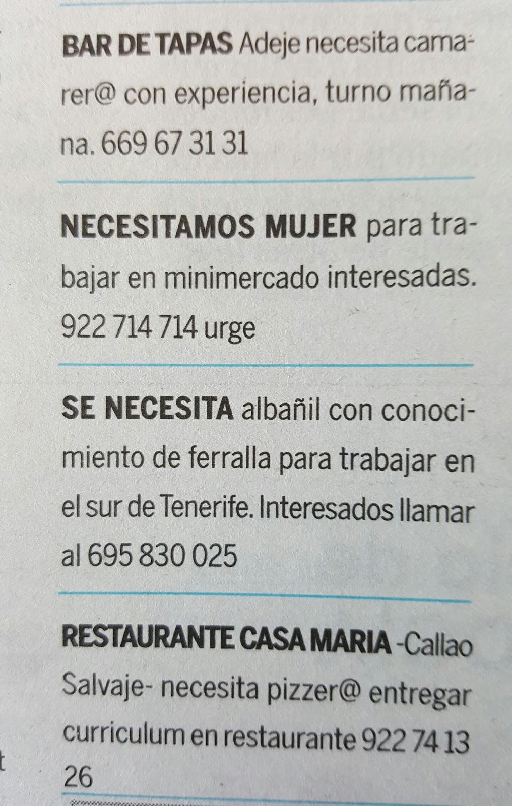 Fpempleo 13 ofertas empleo en tenerife - Ofertas de empleo jefe de cocina ...
