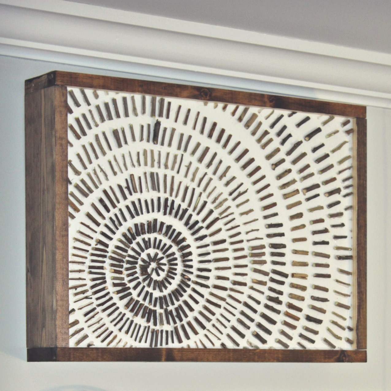 In Between Trips Outside, I Got In A Little Crafting And Was Able To Pull  Together This Fun, Simple, DIY Rustic Starburst Wall Art For The January  Create ... Part 74