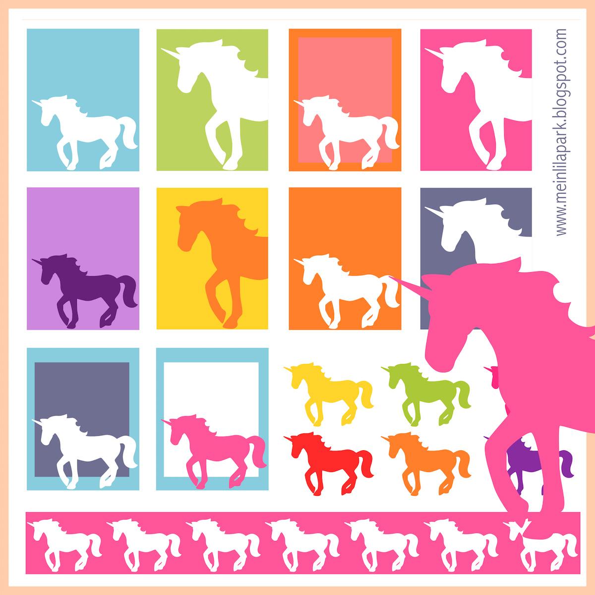 free printable unicorn planner stickers ausdruckbare etiketten freebie