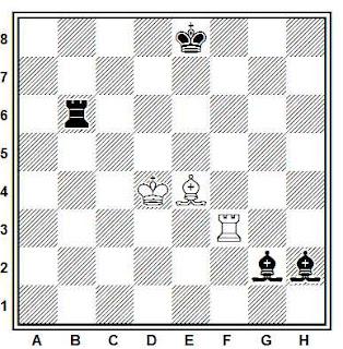 Estudio artístico de ajedrez compuesto por Jan Timman (Chess Life, 1982-83)