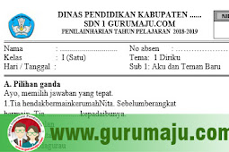 Soal Ulangan Harian ( UH ) Kelas 1 Tema 1 Kurikulum 2013 Tahun 2018