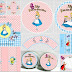 Alice in Pink and Light Blue: Free printable Party Kit.