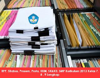 RPP, Silabus, Prosem, Prota, KKM, SK&KD, SMP Kurikulum 2013 Kelas 7, 8 , 9 Lengkap