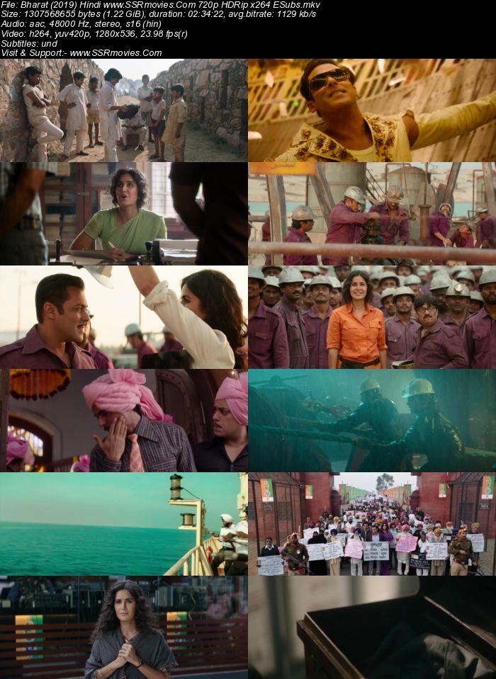 Bharat (2019) Hindi 480p HDRip x264 450MB ESubs Movie Download