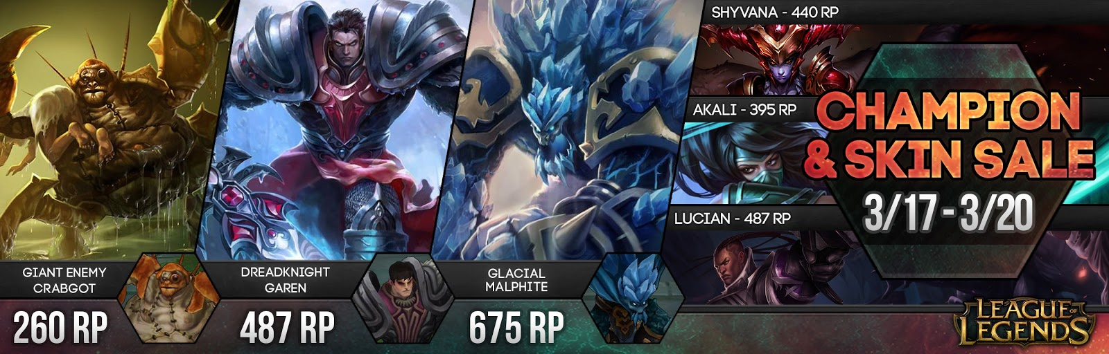Surrender at 20: Champion and Skin Sale 3/17 - 3/20