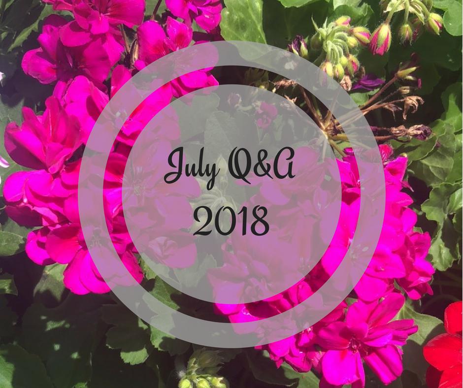 Stephanie Kamp: July 2018 Q&A