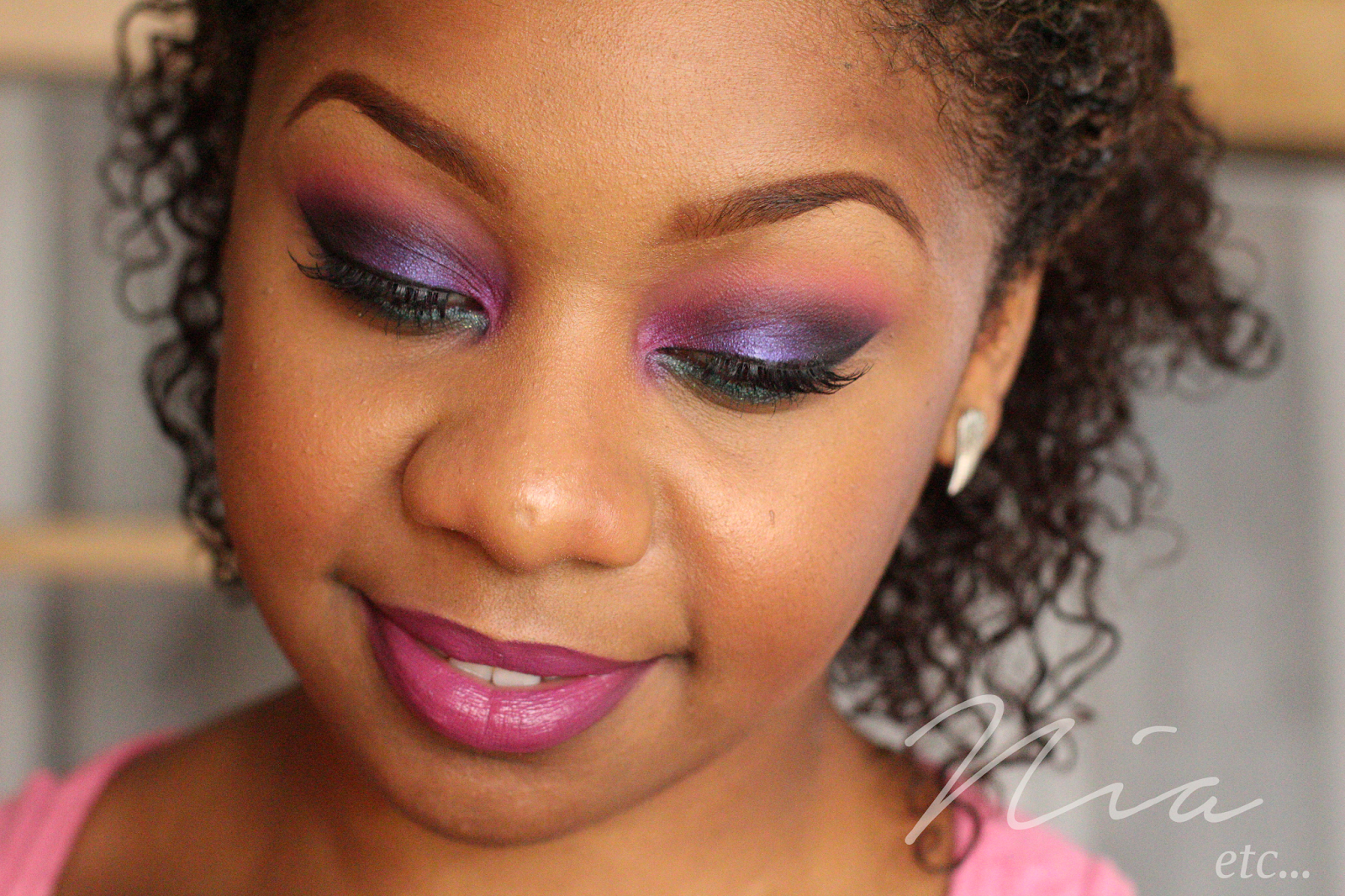 Jewel Toned Pink and Purple MakeUp Look 9