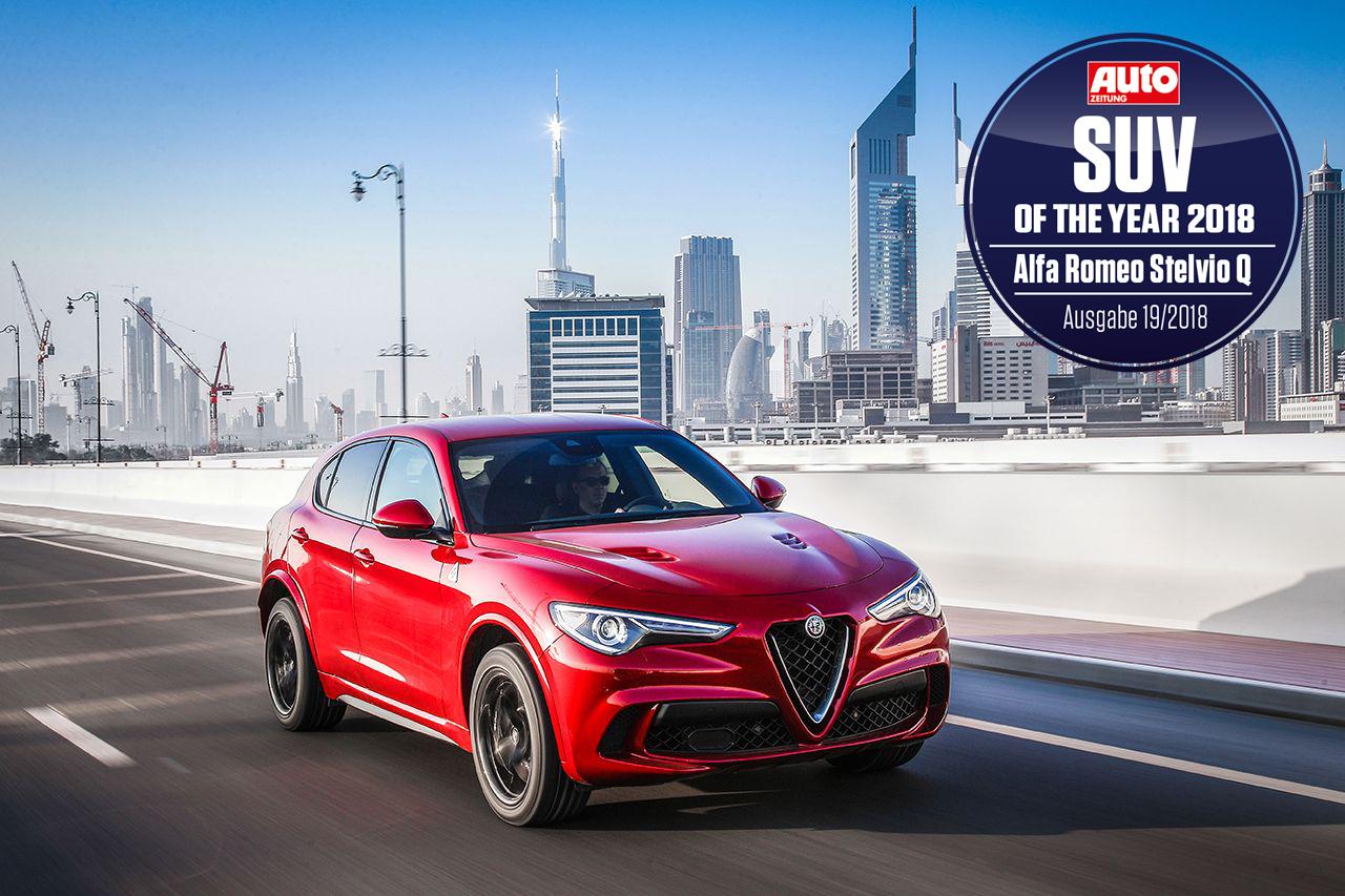 H Alfa Romeo Stelvio Quadrifoglio πήρε τον τίτλο του SUV της Χρονιάς για το 2018
