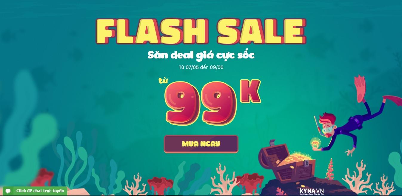 Giảm giá hơn 400+ khóa học Online trên KYNA chỉ từ 99K - FLASH SALE tháng 5/2019
