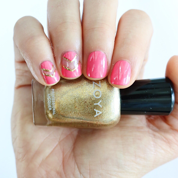 Zoya Ziv - Negative space summer mani - Tori's Pretty Things Blog