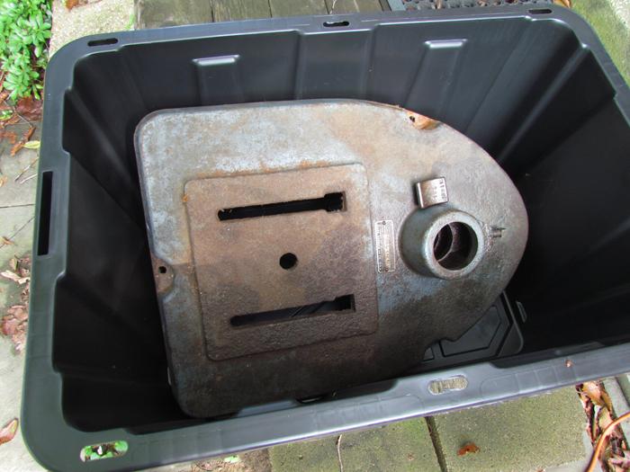 Electrolysis to Remove Rust: Craftsman King-Seeley 103 23141