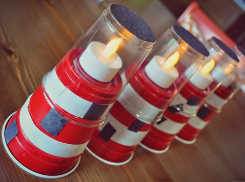 Plastic Cup Lighthouses