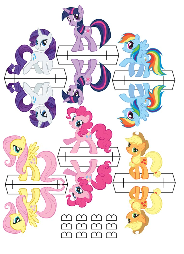 Equestria daily mlp stuff pony cut out 39 s for My little pony craft ideas