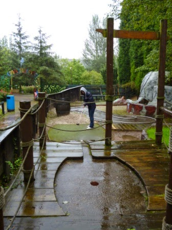 Minigolf at Wonderland in Telford, Shropshire